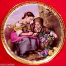 VINTAGE GERMAN PORCELAIN PLATE GIRLS AND GRAPES c.1949, p44
