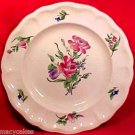 ANTIQUE MAJOLICA FAIENCE LUNEVILLE ROSES  PLATE, lun41