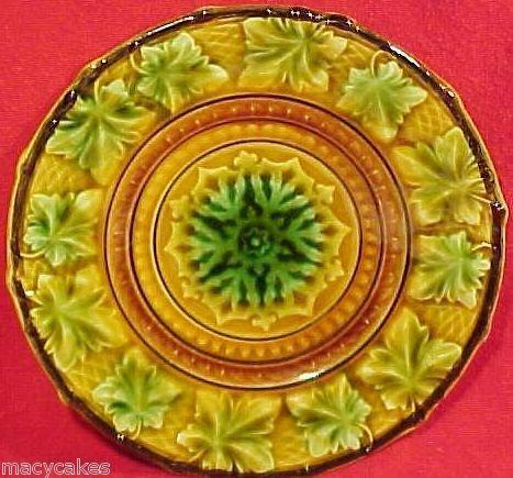 Antique Majolica Pottery Plate pre-V&B circa 1840-1845 Villeroy, gm621