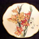 ANTIQUE FRENCH CHOISY-LE-ROI GLADIOLUS FAIENCE POTTERY PLATE, ff33