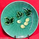 BEAUTIFUL VINTAGE GERMAN MAJOLICA  POTTERY PLATE c.1930, gm390