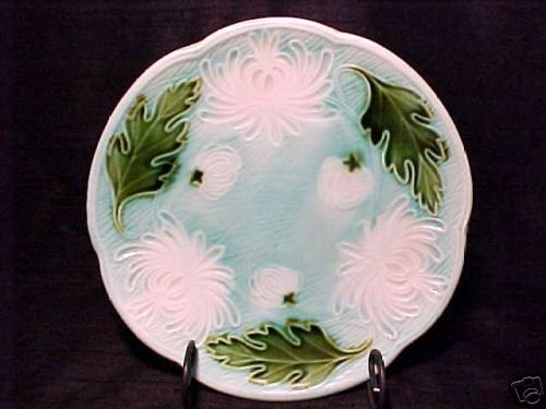 ANTIQUE GERMAN MAJOLICA POTTERY PLATE SCHRAMBERG SMF, gm145