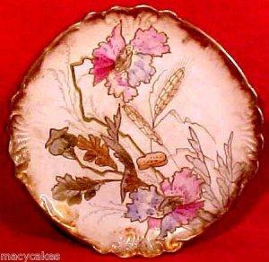 Fabulous Antique Enameled German Majolica Pottery Plate c.1881, gm644