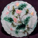 ANTIQUE FRENCH SARREGUEMINES & VB  MAJOLICA POTTERY PLATE, pc10