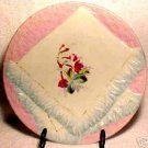 ANTIQUE GERMAN NAPKIN PLATE c.1800's PINK AND BLUE, p8