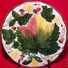 VINTAGE GERMAN MAJOLICA pottery PLATE c.1950's, gm490