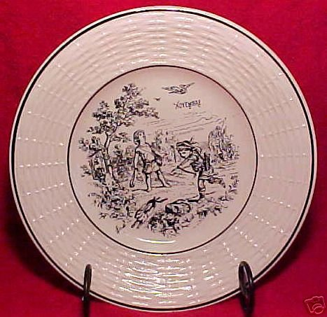 ANTIQUE FRENCH SARREGUEMINES MAJOLICA POTTERY PLATE, fm453
