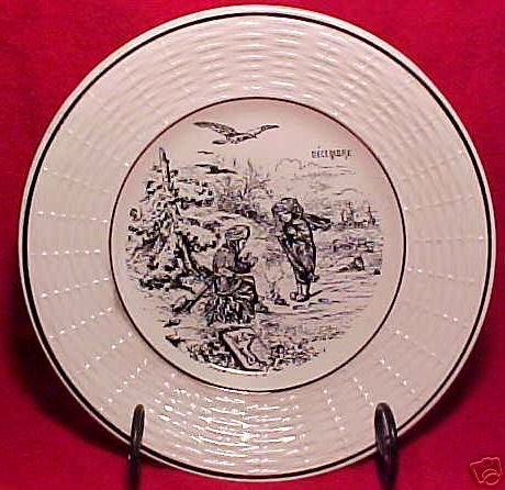 ANTIQUE FRENCH SARREGUEMINES MAJOLICA POTTERY PLATE, fm452