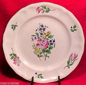 ANTIQUE VINTAGE FRENCH LUNEVILLE FAIENCE MAJOLICA POTTERY PLATE, lun22
