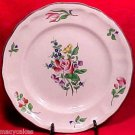 ANTIQUE VINTAGE FRENCH LUNEVILLE FAIENCE MAJOLICA POTTERY PLATE Grey Edge, Lun24