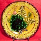 ANTIQUE ART NOUVEAU MAJOLICA POTTERY PLATE c.1840-1850, gm349