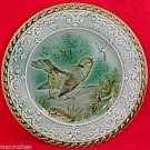 ANTIQUE SARREGUEMINES MAJOLICA POTTERY PLATE c.1790-1830, gm611