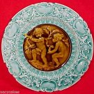 Antique Majolica Pottery Plate Villeroy & Boch c.1882-1895 Blue, gm595