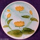 ANTIQUE GERMAN MAJOLICA POTTERY PLATE SCHRAMBERG c.1920 LILIES, gm534