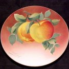 ANTIQUE FRENCH LUNEVILLE MAJOLICA POTTERY APPLES PLATE, fm451