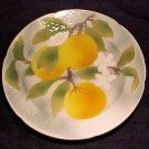 VINTAGE FRENCH ST. CLEMENT MAJOLICA POTTERY PLATE, FM449