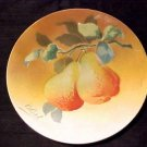 ANTIQUE FRENCH LUNEVILLE MAJOLICA POTTERY PEARS PLATE, fm446