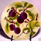 Faience Majolica  ST. CLEMENT MAJOLICA POTTERY PLUMS  PLATE, fm443