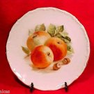 BEAUTIFUL VINTAGE GERMAN PORCELAIN POTTERY APPLES PLATE, P18