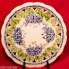 BEAUTIFUL ANTIQUE ART NOUVEAU MAJOLICA POTTERY PLATE V&B, gm435