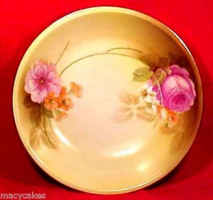 ANTIQUE RS PRUSSIA Porcelain Pottery BOWL FLOWERS c.1905-1915 GERMANY, L72