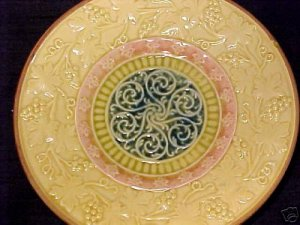 ANTIQUE GERMAN MAJOLICA Pottery PLATE ZELL c.1907-1928, gm227