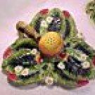 Antique Majolica Pottery Strawberry Server, gm339