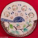 antique majolica villroy & boch fan plate ornate1800-1880, gm614