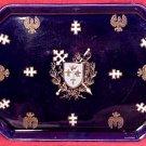 Antique Majolica Pottery Luneville Heraldic Dresser Tray c.1880, lun50