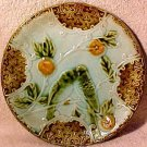 Antique French Majolica Pottery Love Birds Plate, fm623
