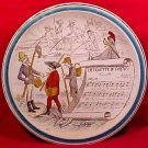Antique Creil Montereau Faience Majolica Pottery Music Plate, fm627