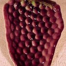 Vintage St. Clement Majolica Pottery Grapes Tray France, fm634