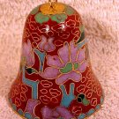 Beautiful Vintage Brass and Enamel Cloisonne Bell, c8