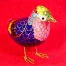 Beautiful Vintage Brass and Enamel Cloisonne Bird Figurine, c7