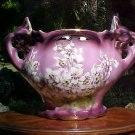 Antique French Majolica Large St. Amand Jardiniere Planter, fm664