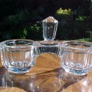 Antique French Victorian Crystal Double Salts, gl50