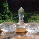 Antique French Victorian Crystal Double Salts, gl57