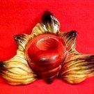 Vintage Majolica Match holder, toothpick holder, fm691