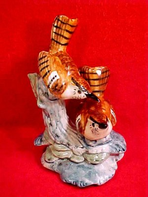 Stangle Majolica Pottery Birds Figurine, fm693
