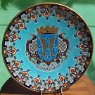 Huge Longwy Enameled Cloisonne Majolica Wall Plaque, fm702