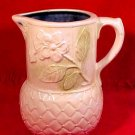 Antique Vintage Floral Majolica Pitcher, fm710