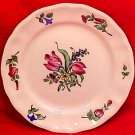 Antique Vintage Luneville Faience Double Tulip Bread & Butter Plate c.1920, LUN67