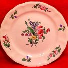 Antique Vintage Luneville Faience  Tulip Bread & Butter Plate c.1920, LUN70