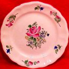 Antique Vintage Luneville Faience Rose Bread & Butter Plate c.1920, LUN71