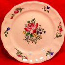 Antique Vintage Luneville Faience Rose Bread & Butter Plate c.1920, LUN72