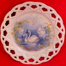 Early Antique French Porcelain Reticulated Pearled Swan Plate c.1850-1891, p127