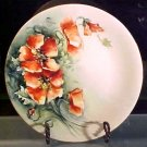 Antique Victorian Limoges Poppy Flowers Plate c.1891-1900, L161