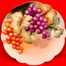 Antique Hand Painted Grapes & Leaves Austrian Porcelain Plate c.1880-1908, p130