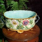 Rare Large Antique French Majolica Jardiniere Planter c.1800's, fm810