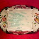 Antique French Longchamp Majolica Asparagus Platter c.1880-1910, fm836